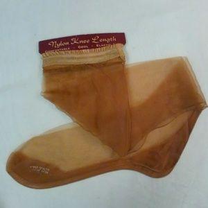 Vintage Nylons Knee Length on Display Card